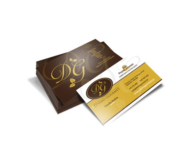 Cartão de Visita D'vino Gourmet