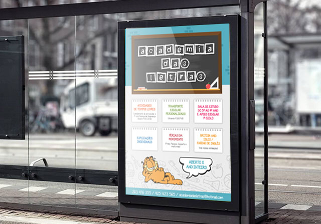 cartaz Publicidade academia