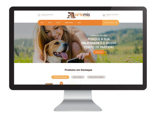 Website Artemis Pet Store